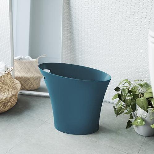 Skinny Lagoon Blue Wastebasket