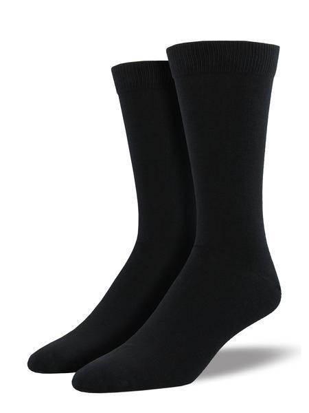 Mens Bamboo Black Socks