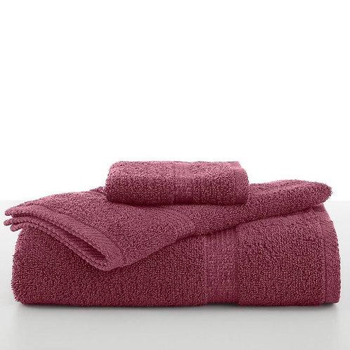 Utica Essential Wash Towel - Soft Red