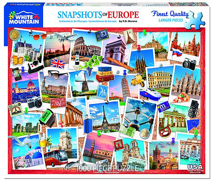 PUZZLE 1000 SNAPSHOTS OF EUROPE