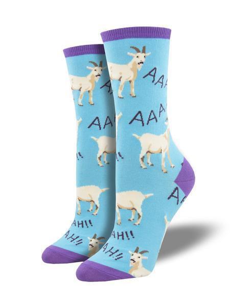 Womens Screaming Goats Blue Socks