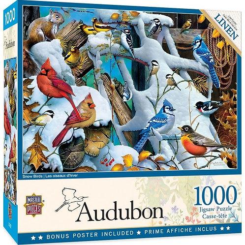 PUZZLE 1000 AUDUBON SNOW BIRDS
