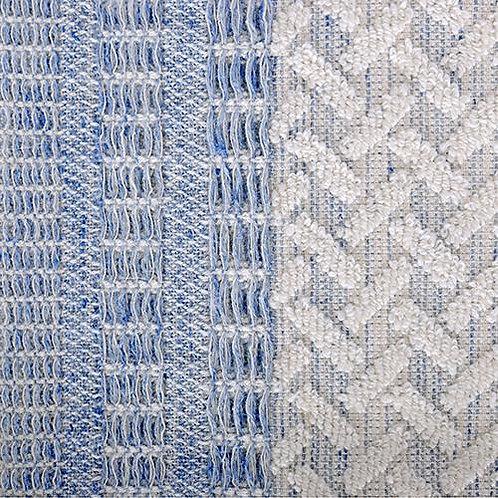 Porto Wash Towel - Blue/Natural
