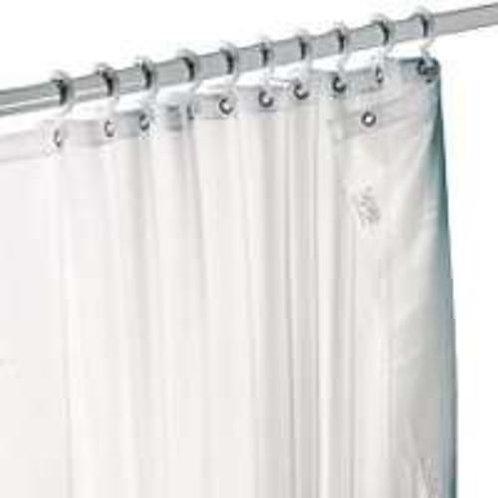 Shower Liner White Fabric