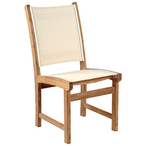 St Tropez Side Chair Armless - WHITE