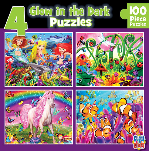 PUZZLE 60PC GLOW 4 IN ONE