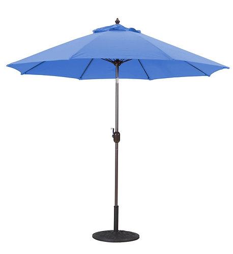 Market Umbrella 9 FT WHT Pole/Carribean Blue