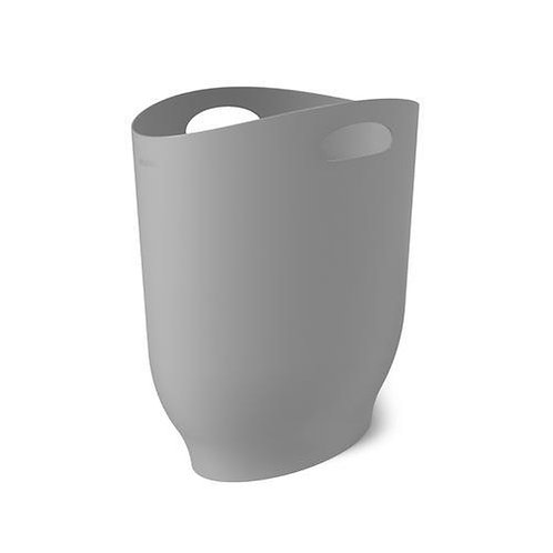 2.5 Gallon Gray Wastebasket Gray