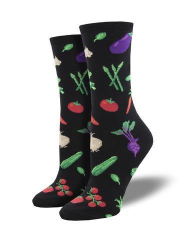 Womens Veggie Might Black Socks