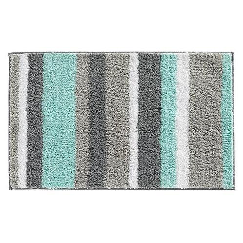 Bath Rug 34x21 Mint/Gray
