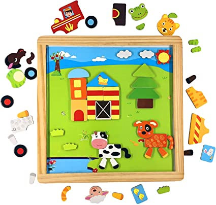 PUZZLE MAGNETIC ON THE FARM