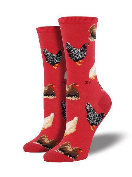 Womens Hen House Red Socks
