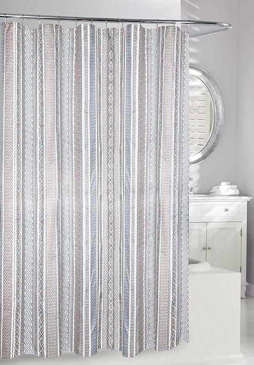 Shower Curtain Aztec Jacquard