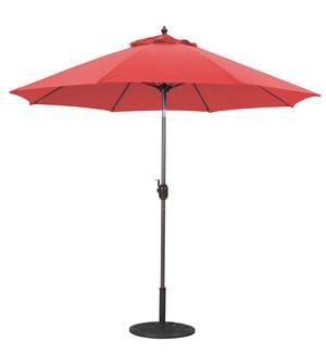Market Umbrella 9 FT WHT Pole/Red