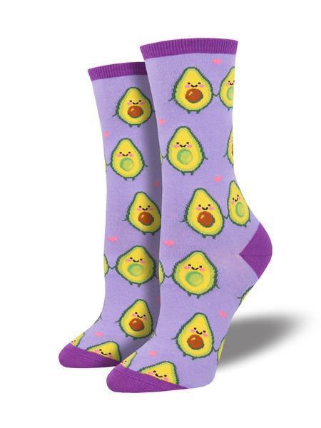 Womens Guac My World Socks