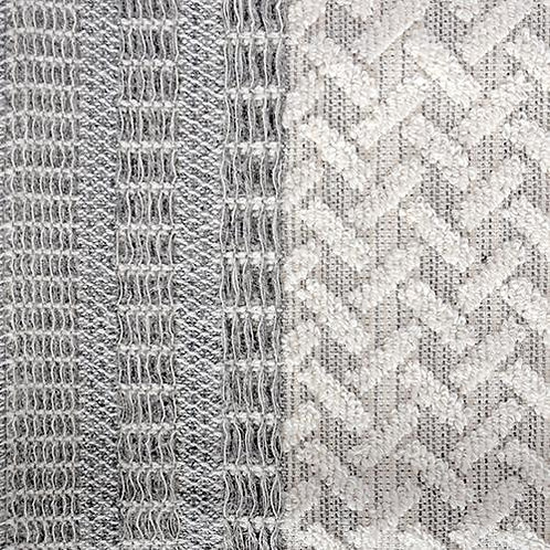 Porto Wash Towel - Grey/Natural