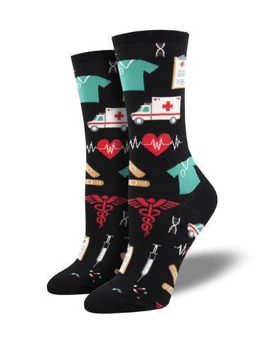 Womens Healthcare Heroes Black Socks