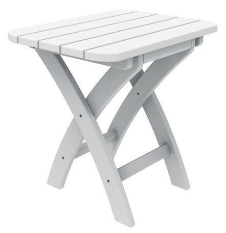 COASTLINE HARBOR VIEW WHITE FOLDING TABLE
