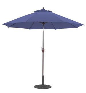 Market Umbrella 9 FT WHT Pole/Navy