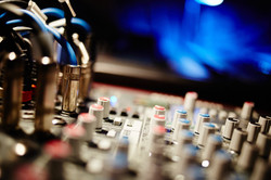 Image of the sound desk