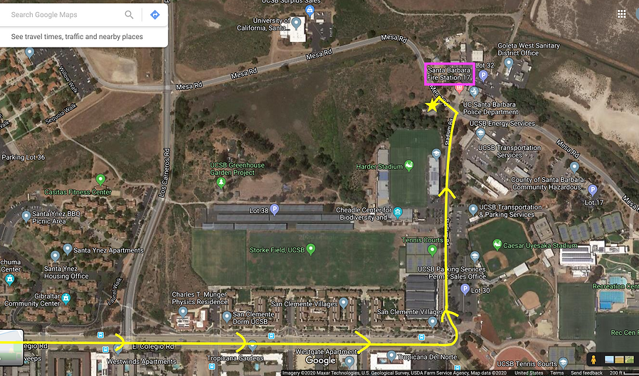 2-8-20 map to unnamed parking lot by Sta