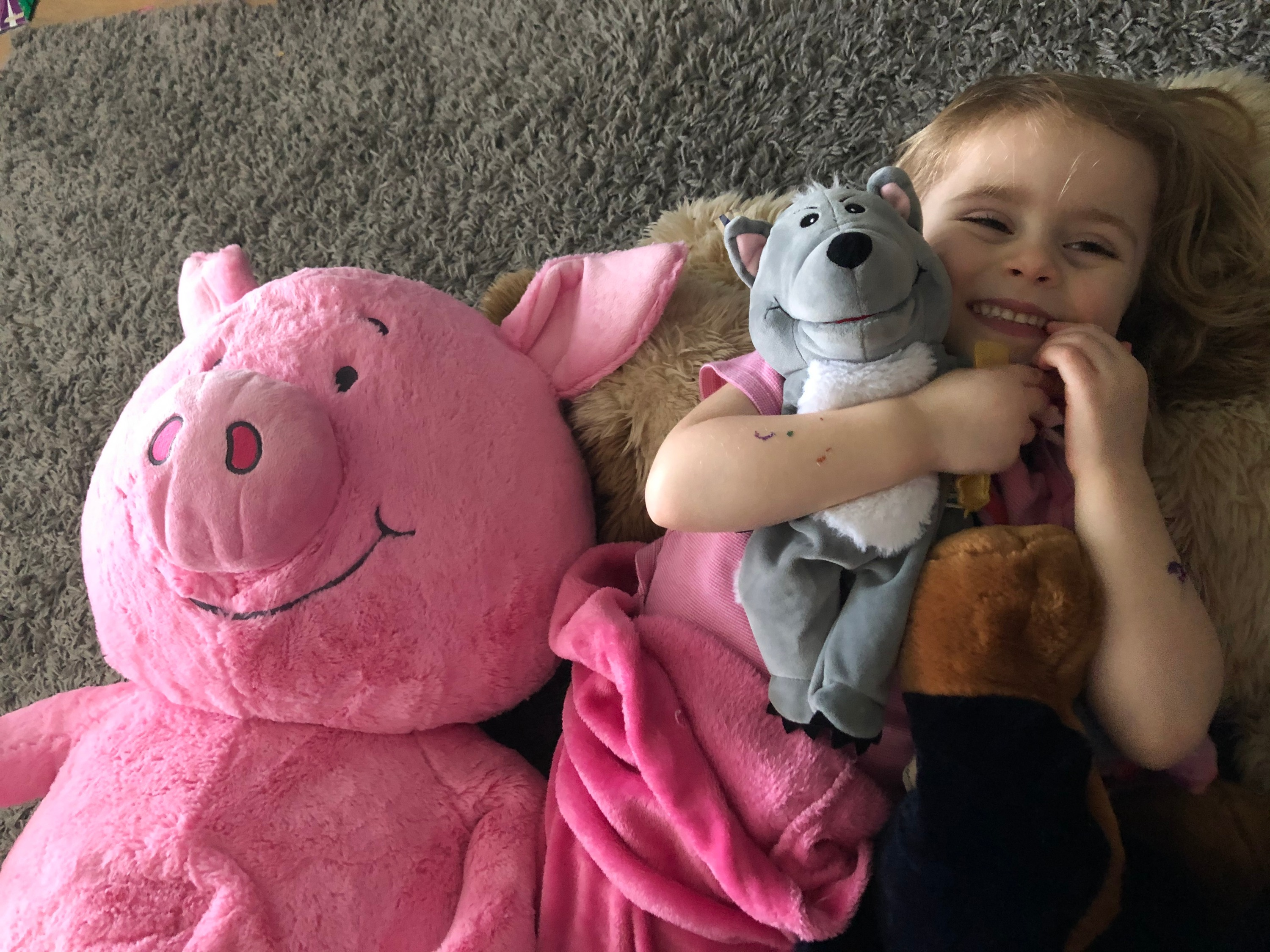 Lucy.... and the not so little pig!