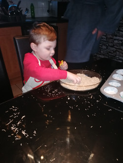 Zac does some baking!