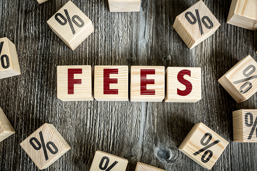 Wooden Blocks with the text: Fees.jpg