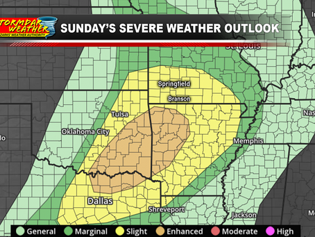 8:00 a.m. Update:  Severe Weather Risk Area Continues to Increase as All Modes of Storms Possible