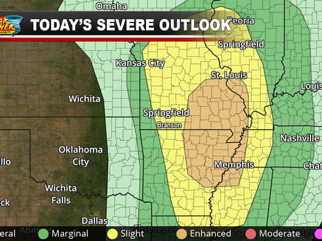 Severe Storms Expected This Evening; Damaging Winds, A Couple of Tornadoes Possible