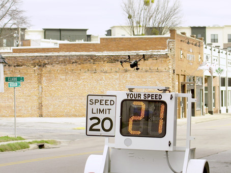 It's 20mph on Dickinson Ave, you speed demons!