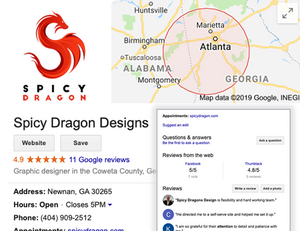 Spicy Dragon Designs can help you set up Google My Business