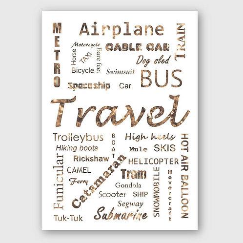 Sticker #21, Travel Style Brown