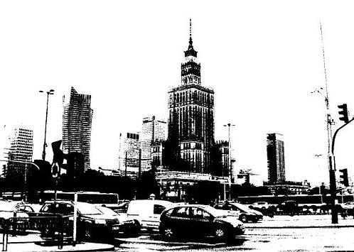 Postcard #13, Warsaw