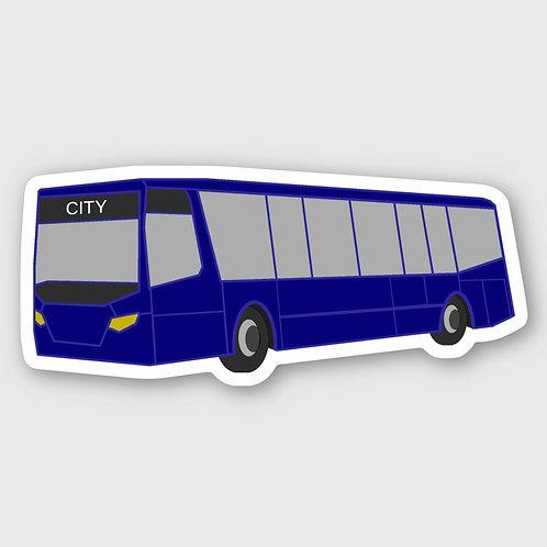 Sticker #10, Blue Bus