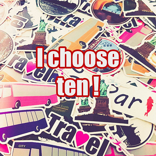 10 stickers of your choice