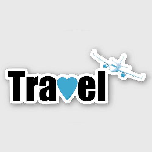 Sticker #2, Travel Blue