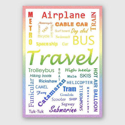 Sticker #22, Travel Style Colour