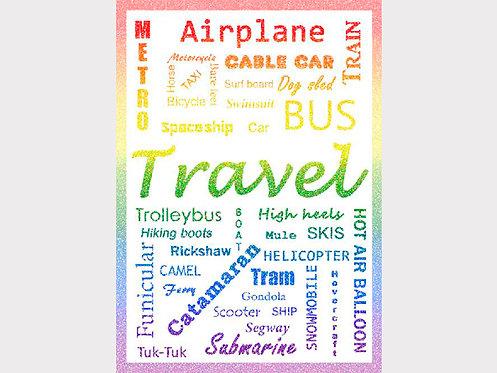 Postcard #28, Travel Style Colour
