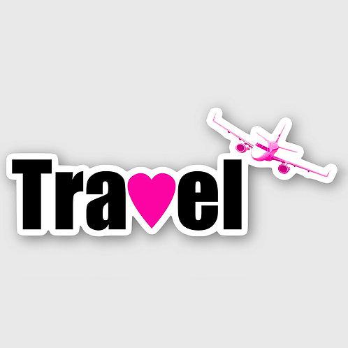 Sticker #1, Travel Pink