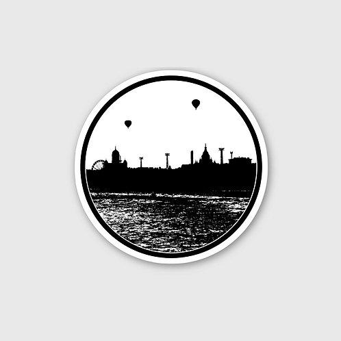 Sticker #7, Helsinki Silhouette