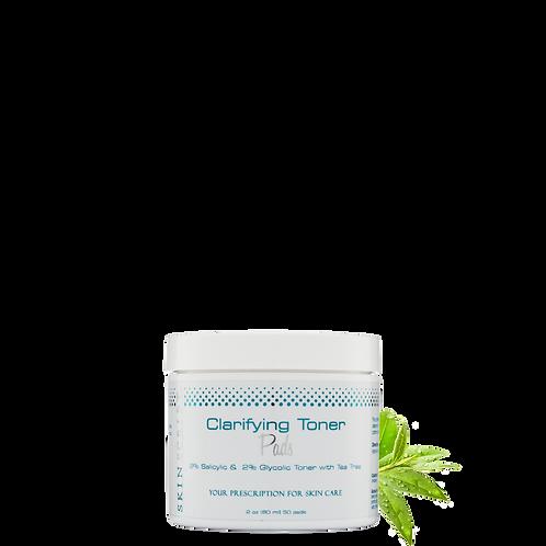 Clarifying toner pads