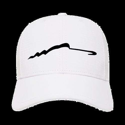 NuGator - White Active Wear Premium Cap - Front View