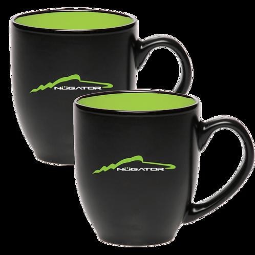 16oz Ceramic Bistro Mugs w/Silhouette Pairing (2)
