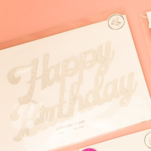 Celebration Card Cake Topper