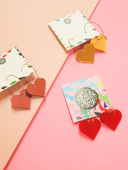 Fizz Goes Pop - Heart Earrings