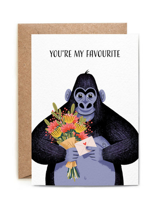 """You're my favourite"" Card"