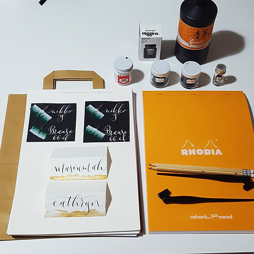 Pointed-Pen Calligraphy for Beginners Class -18th Oct