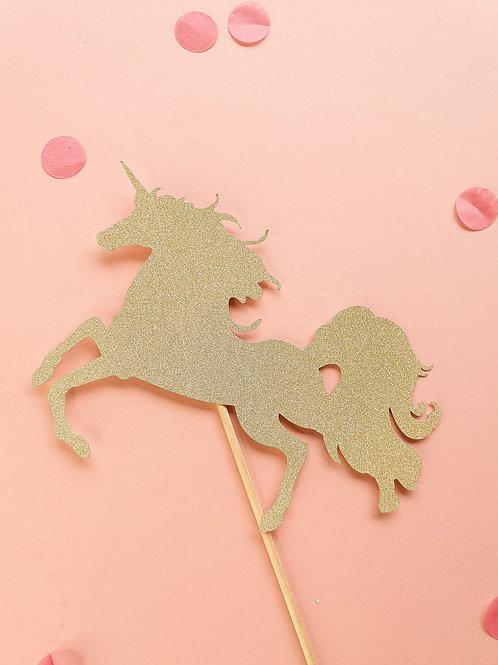 Unicorn Card Cake Topper