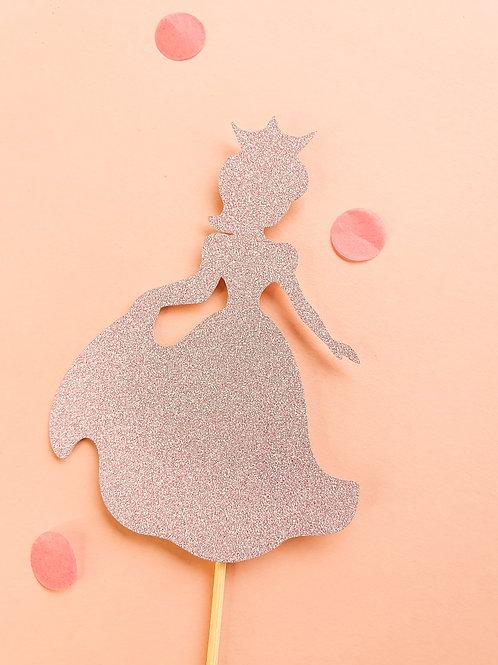 Pink Princess Card Cake Topper